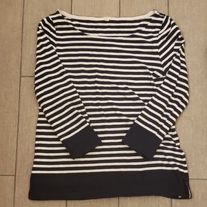 J Crew Navy and White Top Size Small